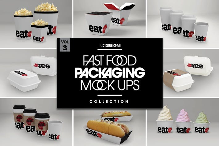 Fast Food Boxes Vol.3: Take Out Packaging Mock Ups