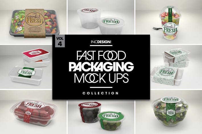 Fast Food Boxes Vol.4: Take Out Packaging MockUps