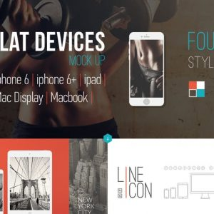 Flat-style Devices Mock-Up (PSD)