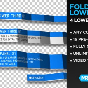 Foldable Lower Thirds