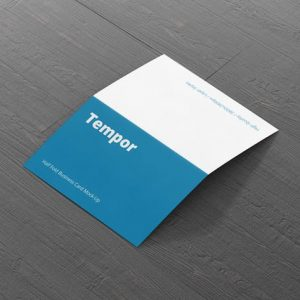 Folded Business Card Mockup - Horizontal