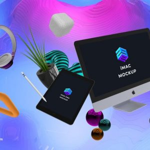 iMac Macbook Pro Website Ui Mockup - MK