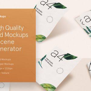 inMockups - A4 Paper PSD Mockup Scene Generator