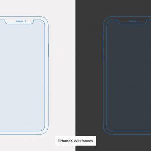 iPhone X Wireframe Mockups