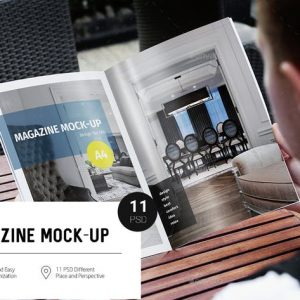 Magazine A4 Mock-Up