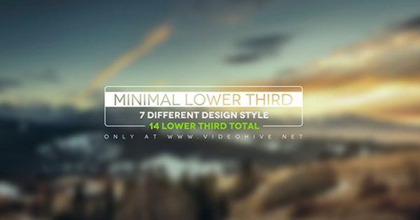 Minimal Lower Thirds