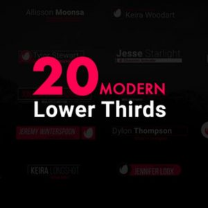 Modern Lower Thirds For Premiere Pro