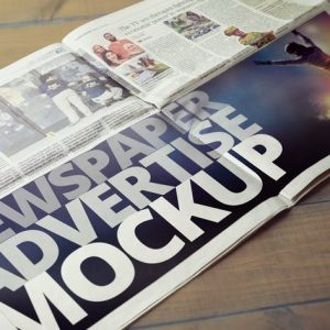 Newspaper Advertise Mockup v2