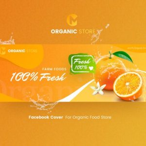 Organic Store - Facebook Cover Template