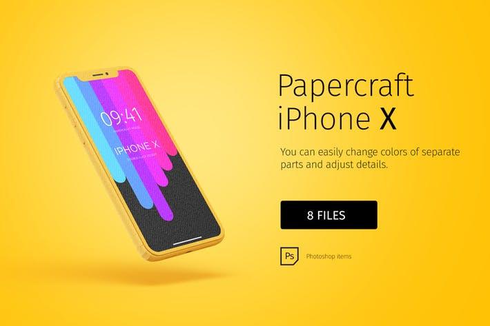 Paper model iPhone X