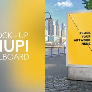 Mock Up Mupi Billboard