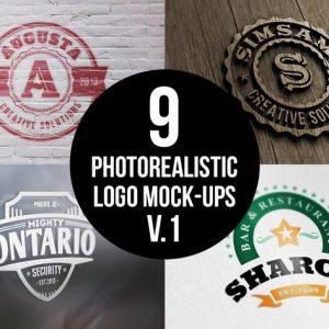 Photorealistic Logo Mock-Ups Vol.1