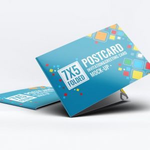 Postcard Invitation Greeting Card Mock-Up V.1