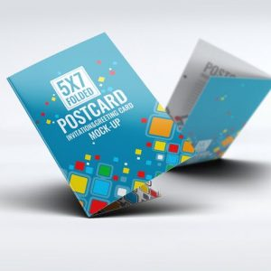 Postcard Invitation Greeting Card Mock-Up V.2