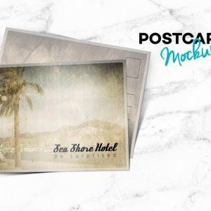 Postcard Landscape Mockup