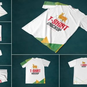 7 Round Neck T-Shirt Mockups