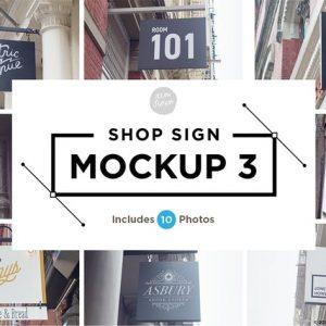 Shop Sign Mockup 3