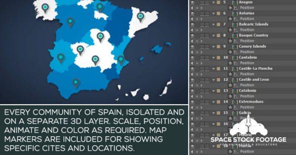 Spain Map Kit