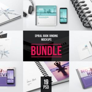 Spiral Book Binding Bundle Mockups