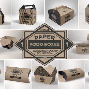 Paper Food Packaging Mockups Vol.1