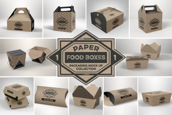 Paper Food Packaging Mockups Vol.1