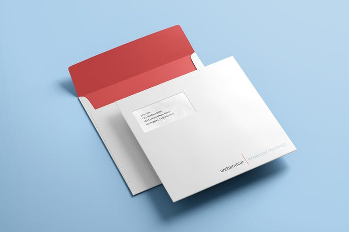 Square Envelope Mock-up