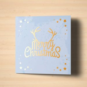 Square Greeting Card Mock-Up with Foil Stamping