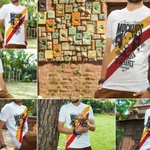 Stylish V-Neck T-Shirt Mockups