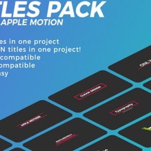 Titles Pack | FCPX & Apple Motion