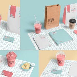 Transparent Plastic Ice Cream Cup Mockups
