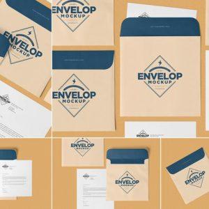 Unique Square Shaped Envelope Mockups