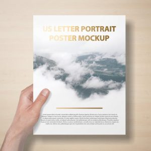 US Letter Portait Flyer / Letterhead Mockup