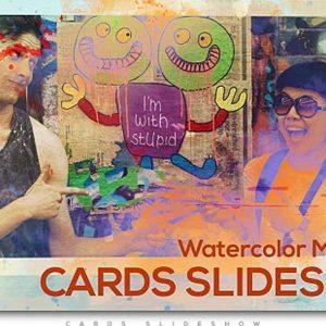 Watercolor Memories Cards Slideshow