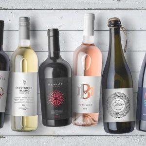 Wine Bottles Mockups Vol. 1