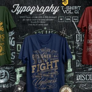 3 Quote Typography T-Shirts Vol.01