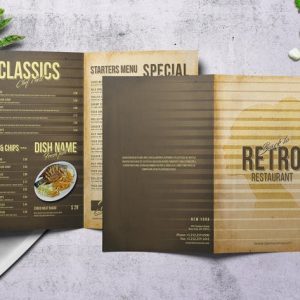 80's Retro Bifold A4 & US Letter Menu