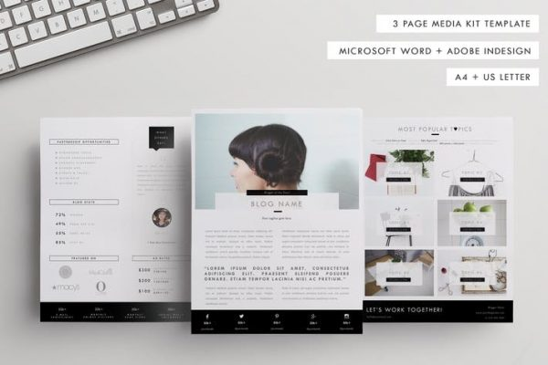Influencer Media Kit Template