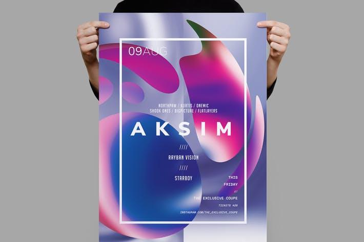 Aksim Poster / Flyer Template