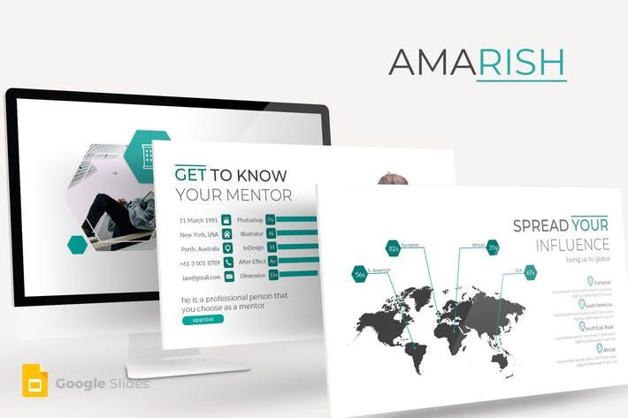 Amarish - Google Slides Template