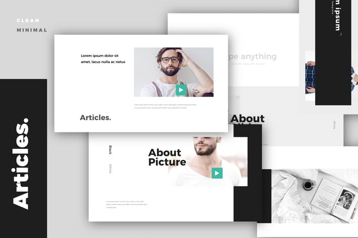 Articles. Modern Minimal Powerpoint