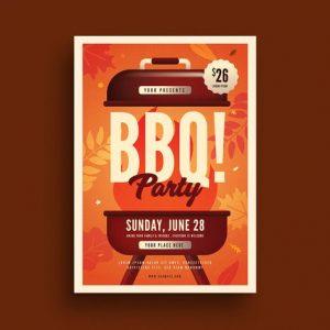 Autumn BBQ Party Flyer