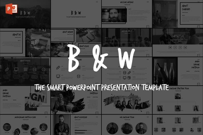 B&W - Powerpoint Template
