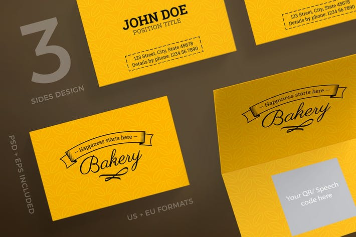 Bakery Food Business Card Template
