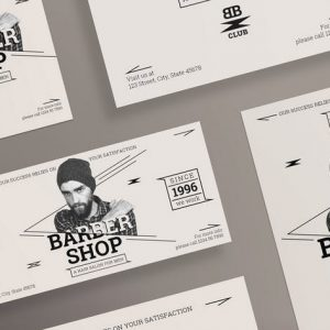 Barbershop Services Flyer and Poster Template