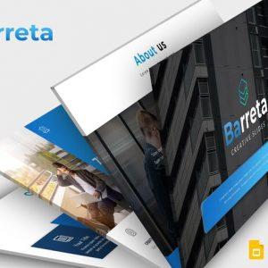 Barreta - Google Slides Template