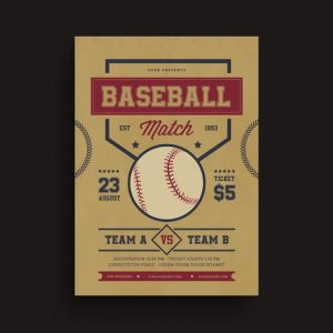 Baseball match Flyer