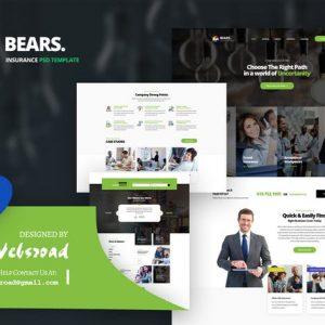 Bear's - Insurance PSD Template