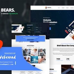 Bear's - IT Services PSD Template