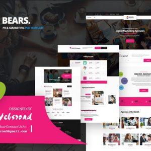 Bear's - Pr & Marketing PSD Template