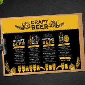 Beer Menu Brochure